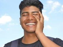 Persona apuesta feliz imagen de archivo