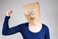 Persona arrabbiata Fotografia Stock Libera da Diritti