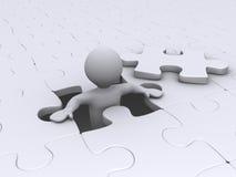 Persona che esce da puzzle Fotografia Stock