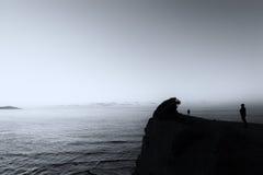 Persona che guarda il mare Fotografie Stock