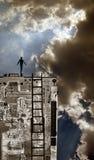 Persona in cima a tecnologia Fotografia Stock Libera da Diritti