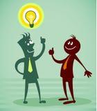 Persona con buena idea Foto de archivo libre de regalías