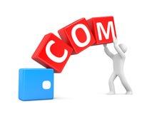 Persona con Domain Name Imágenes de archivo libres de regalías