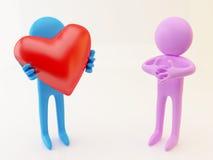 Persona con el corazón Fotos de archivo libres de regalías