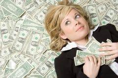 Persona con el dinero Imagen de archivo libre de regalías
