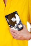 Persona con el disco duro Fotos de archivo