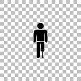 Persona con el icono de la pr?tesis del pie completamente libre illustration