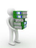 Persona con i dispositivi di piegatura di contabilità. Fotografia Stock Libera da Diritti
