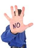 Persona con il gesto di rifiuto Fotografia Stock Libera da Diritti