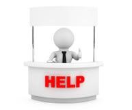 Persona con il supporto in bianco di aiuto Fotografia Stock