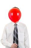 Persona con la bola roja Imágenes de archivo libres de regalías