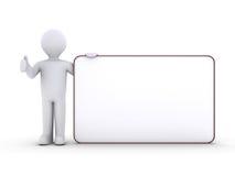 Persona con la scheda in bianco Immagini Stock Libere da Diritti