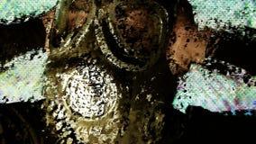 Persona con tecnologia di guerra della maschera antigas
