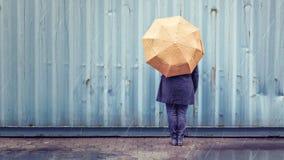 Persona con un paraguas Fotos de archivo libres de regalías