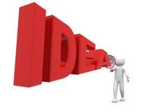 persona 3d con l'idea su fondo bianco Immagini Stock Libere da Diritti