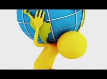 persona 3d y globo Imágenes de archivo libres de regalías