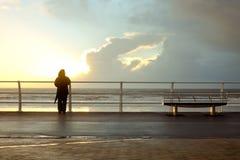 Persona de la playa Imágenes de archivo libres de regalías