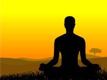 Persona de la yoga Fotos de archivo
