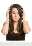 Persona de los auriculares Imagen de archivo
