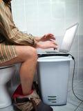 Persona dedita del Internet Fotografia Stock Libera da Diritti