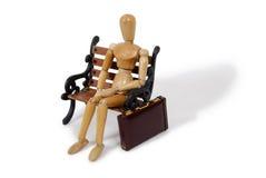 Persona del asunto en banco Imagen de archivo libre de regalías