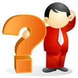 Persona del asunto - pregunta grande stock de ilustración