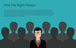 Persona del hallazgo para el trabajo Imagen de archivo libre de regalías