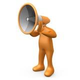 Persona del megafono Fotografia Stock