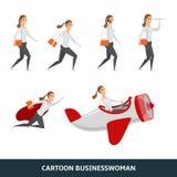 Persona del negocio que camina al éxito stock de ilustración