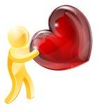 Persona del oro del amor del corazón Imágenes de archivo libres de regalías
