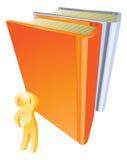 Persona del oro que mira para arriba el libro stock de ilustración