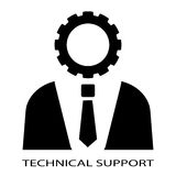 Persona del soporte técnico stock de ilustración
