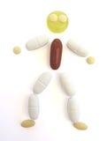 Persona della pillola sopra bianco Immagine Stock Libera da Diritti