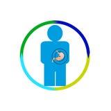 Persona dello stomaco al rischio Fotografia Stock
