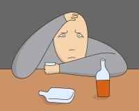 Persona depresiva del vector Fotos de archivo