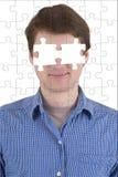 Persona desconocida con la ausencia de ojos Fotografía de archivo