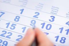 Persona di affari With Calendar Immagine Stock