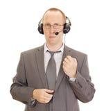 Persona di affari con l'insieme della testa Fotografie Stock