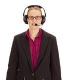 Persona di affari con l'insieme della testa Immagini Stock