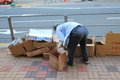Persona di Hong Kong Ragpicker fotografie stock libere da diritti