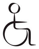Persona discapacitada Fotos de archivo libres de regalías