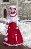 Persona disfrazada - carnaval veneciano 2013 de Annecy Fotos de archivo libres de regalías