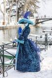 Persona disfrazada - carnaval veneciano 2013 de Annecy Fotos de archivo