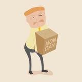 Persona dura di lavoro lunedì Immagine Stock Libera da Diritti