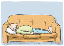 Persona durmiente Imagen de archivo