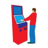 Persona e terminale di pagamento Immagine Stock Libera da Diritti