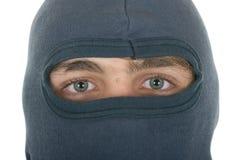 Persona en cierre de la máscara para arriba Imágenes de archivo libres de regalías