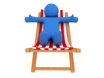 Persona en el sillón Imagen de archivo