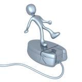 Persona en ratón Imagen de archivo libre de regalías