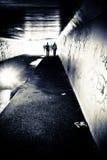 Persona en túnel Imagen de archivo libre de regalías